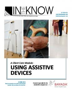 A Client Care Module: USING ASSISTIVE DEVICES
