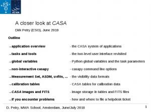 A closer look at CASA