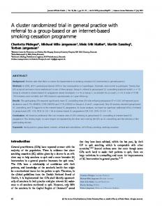 A cluster randomized trial in general practice with referral to a group-based or an internet-based smoking cessation programme