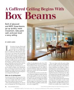 A Coffered Ceiling Begins With. Box Beams
