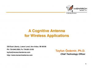A Cognitive Antenna for Wireless Applications