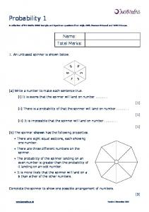 A collection of 9-1 Maths GCSE Sample and Specimen questions from AQA, OCR, Pearson-Edexcel and WJEC Eduqas. Name: Total Marks: