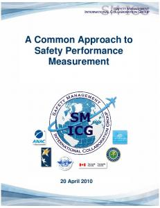 A Common Approach to Safety Performance Measurement