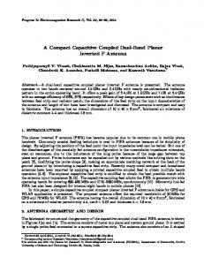 A Compact Capacitive Coupled Dual-Band Planar Inverted F Antenna