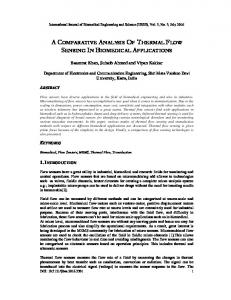 A COMPARATIVE ANALYSIS OF THERMAL FLOW SENSING IN BIOMEDICAL APPLICATIONS