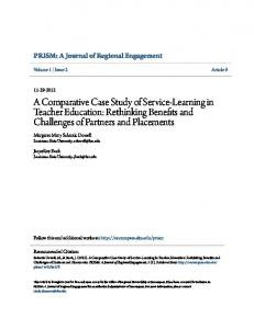 A Comparative Case Study of Service-Learning in Teacher Education: Rethinking Benefits and Challenges of Partners and Placements