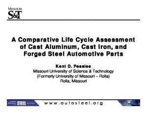 A Comparative Life Cycle Assessment of Cast Aluminum, Cast Iron, and Forged Steel Automotive Parts