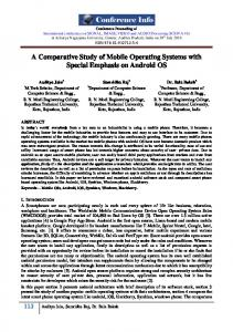 A Comparative Study of Mobile Operating Systems with Special Emphasis on Android OS