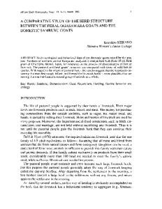 A COMPARATIVE STUDY OF THE HERD STRUCTURE BETWEEN THE FERAL OGASA W ARA GOATS AND THE DOMESTIC SAMBURU GOATS