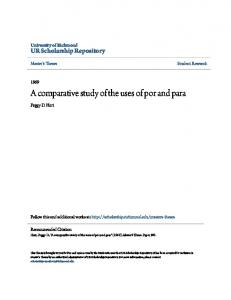 A comparative study of the uses of por and para