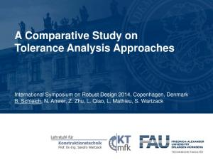 A Comparative Study on Tolerance Analysis Approaches