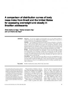A comparison of distribution curves of body mass index from Brazil and the United States for assessing overweight and obesity in Brazilian adolescents