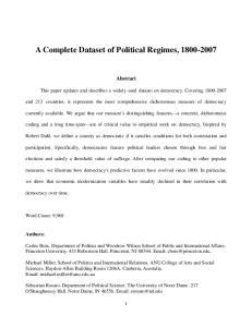A Complete Dataset of Political Regimes,
