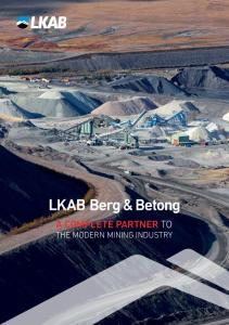 A COMPLETE PARTNER TO THE MODERN MINING INDUSTRY