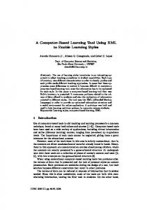 A Computer-Based Learning Tool Using XML to Enable Learning Styles
