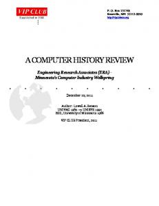 A COMPUTER HISTORY REVIEW