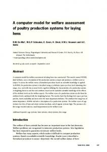 A computer model for welfare assessment of poultry production systems for laying hens