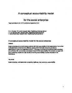 A conceptual accountability model for the social enterprise