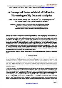 A Conceptual Business Model of E-Fashion: Harnessing on Big Data and Analytics