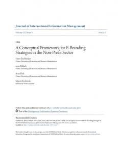 A Conceptual Framework for E-Branding Strategies in the Non-Profit Sector