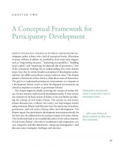 A Conceptual Framework for Participatory Development