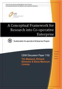 A Conceptual Framework for Research into Co-operative Enterprise
