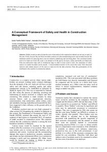 A Conceptual Framework of Safety and Health in Construction Management