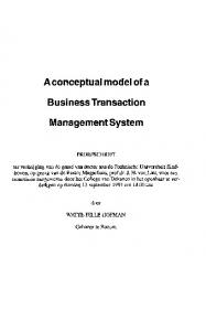 A conceptual model of a. Business Transaction