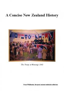 A Concise New Zealand History