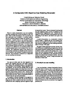 A Configurable UML Based Use Case Modeling Metamodel