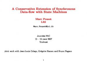 A Conservative Extension of Synchronous Data-flow with State Machines