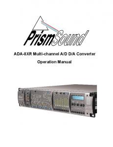 A Converter. Operation Manual