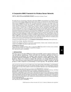 A Cooperative MIMO Framework for Wireless Sensor Networks