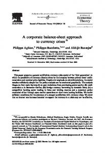 A corporate balance-sheet approach to currency crises $