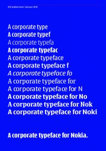 A corporate typeface for Nokia