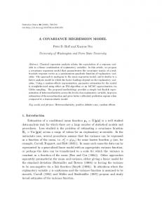 A COVARIANCE REGRESSION MODEL