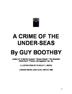 A CRIME OF THE UNDER-SEAS By GUY BOOTHBY