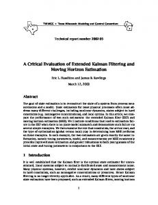 A Critical Evaluation of Extended Kalman Filtering and Moving Horizon Estimation