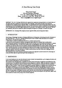 A Data Mining Case Study
