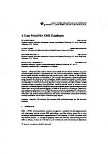 A Data Model for XML Databases