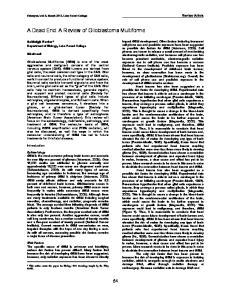 A Dead End: A Review of Glioblastoma Multiforme