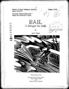 A debugger for SAIL. John F. Reiser. Research sponsored by