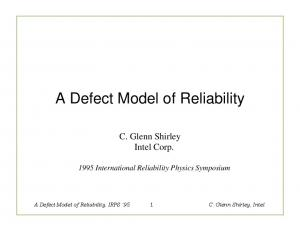 A Defect Model of Reliability