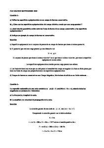 a) Defina las superficies equipotenciales en un campo de fuerzas conservativo