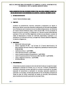 A DEL DEPARTAMENTO DE ENFERMERIA DEL HOSPITAL NACIONAL ARZOBISPO LOAYZA