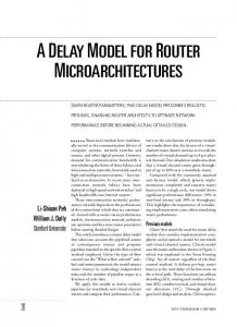 A DELAY MODEL FOR ROUTER MICROARCHITECTURES