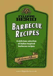 A delicious selection of Italian inspired barbecue recipes
