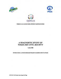 A DIAGNOSTIC STUDY OF TOGOLESE CIVIL SOCIETY