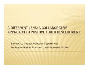 A DIFFERENT LENS: A COLLABORATIVE APPROACH TO POSITIVE YOUTH DEVELOPMENT