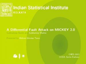 A Differential Fault Attack on MICKEY 2.0